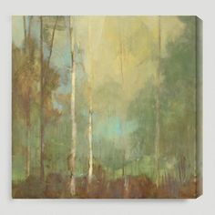 Gallery Direct Upon Reflection I by Kim Coulter Graphic Art on Canvas Size: Abstract Landscape Painting, Landscape Paintings, Landscapes, Ink Paintings, Abstract Paintings, Abstract Art, Beige And White Living Room, Canvas Art, Canvas Prints