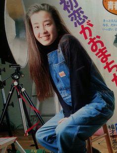 1990年、フジテレビドラマ『いつも誰かに恋してるッ』 Classic Beauty, Cute Girls, Japan, Actresses, Celebrities, Asia, Drawing, Women, Fashion