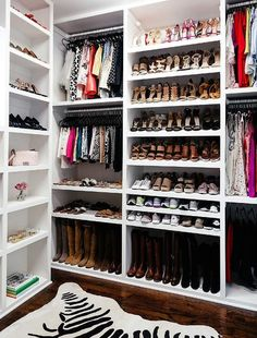 Built In Shoe Shelves - Design photos, ideas and inspiration. Amazing gallery of interior design and decorating ideas of Built In Shoe Shelves in closets, laundry/mudrooms by elite interior designers. Walk In Closet Design, Closet Designs, Custom Closet Design, Shoe Organizer, Closet Organization, Organization Ideas, Organizing, Walking Closet Ideas, Shoe Shelf In Closet