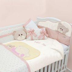 set de edredon para cuna de bebe baby bear osita conejita