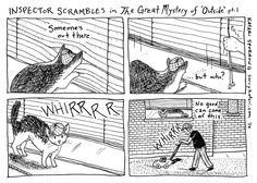 Inspector Scrambles in The Great Mystery of 'Outside' part 1 http://sorrykatari.com/inspector-scrambles-in-the-great-mystery-of-outside-pt-1 #comics