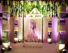 The elegance of this beauty lies within its colour play...it is subtle but at the same time its eye pleasing and its creative sitting look make us fall in love with it more 😍😍 This Mesmerizing beauty is for our loved ones special day. #Engagementdiaries #flowers #mograngreenery #purplenwhite #i2cevents😇
