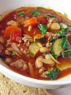 Italian Sausage, Vegetable, and Orzo Soup - A Hint of Honey