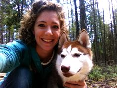 Me and my siberian husky pup enjoying the beautiful Maine weather!