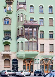 """http://www.magyarszecessziohaza.hu/epuletfotoken.php  """"stunning art nouveau apartment block deigned by Emil Vidor and built in 1903. Now a shrine to Hungarian Secessionist interiors, its three floors are crammed with furniture, porcelain, ironwork, paintings and objets d'art."""""""