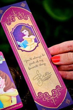 AWESOME bookmark.  It would be cute to make up a bookmark and get Belle to sign it!