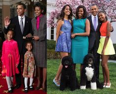 Time flies: The Obama family at the beginning of Obama's presidency ...
