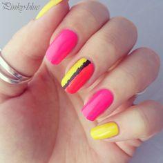 pinky-blue #nail #nails #nailart