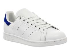 adidas stan smith white trainers with blue