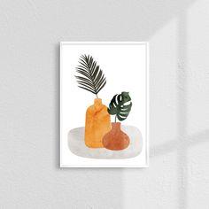 Botanical Wall Art, Botanical Prints, Plant Art, Diy Canvas Art, Bedroom Art, Minimalist Art, Modern Wall Art, Abstract Wall Art, Home Decor Wall Art