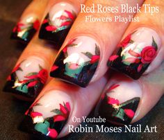 red and black nails - Google Търсене