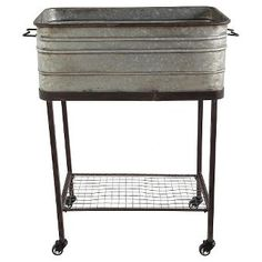 Square Metal with Ash Tub On Stand (17-3-4