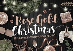 Rose Gold Christmas PNG Photo pack unlimited Rose Gold Christmas scenes with this pack of 40 pretty festive PNG objects. The bundle also includes 4 bonus backgrounds plus 4 Dark Wood Background, Lights Background, Christmas Scenes, Gold Christmas, Cosmic Shop, Scene Creator, The Creator, Flip Image, Heart Decorations