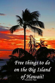 Free things to do on the Big Island of Hawaii! Kona, Hilo, Waimea, Waikoloa and more! So many great free things to do while traveling to the Big Island of Hawaii.
