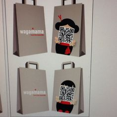 QR code takeout bags