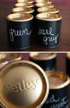 DIY Tea Storage | Click Pic for 21 DIY Chalkboard Paint Ideas | Easy Decorating Ideas for The Home