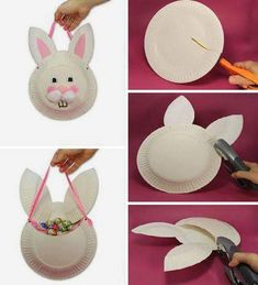 12 Easy Easter Bunny Crafts for Kids (PHOTOS) - CafeMom - - 12 Easy Easter Bunny Crafts for Kids (PHOTOS) Put a paper plate to good use and make this Easter bunny craft with the kids. Easy Easter Crafts, Easter Art, Bunny Crafts, Family Crafts, Easter Crafts For Kids, Easter Bunny, Diy For Kids, Bunny Bags, Paper Plate Crafts