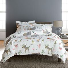 Winter Forest Flannel Duvet Cover | The Company Store, This is ridiculously adorable ^.^