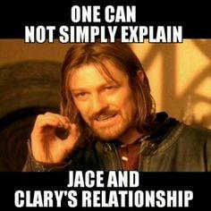 Jace Wayland and Clary Fray
