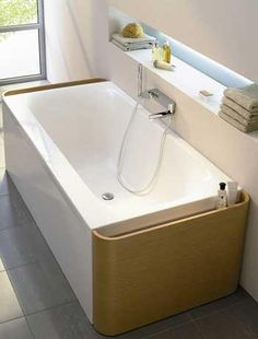 Shelf idea for bathroom in the outside wall?