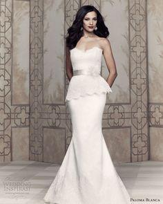 paloma blanca bridal 2013 peplum wedding dress 4362