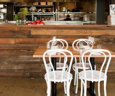 #Rustic #Interiors have a sense of connection to the past that's hard to #resist. This naturally weathered rough sawn cladding has an amazing effect making anyone in it's presence feel warm and laid back but keeping the area classy at the same time.  || #Indesignlive of Cafe' Culture and Cotton Duck||