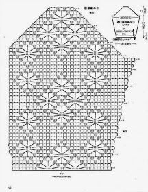 Irish lace, crochet, crochet patterns, clothing and decorations for the house, crocheted. Chevron Crochet Patterns, Crochet Collar Pattern, Crochet Diagram, Crochet Stitches Patterns, Stitch Patterns, Crochet Bra, Filet Crochet, Crochet Motif, Crochet Clothes