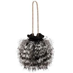 Matthew Williamson Ostrich Feather Black Bag ($395) ❤ liked on Polyvore featuring bags, handbags, shoulder bags, black, shoulder bag purse, evening handbags, evening shoulder bag, embroidered handbags and ostrich feather purse