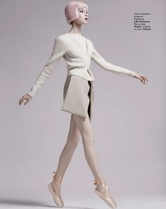 visual optimism; fashion editorials, shows, campaigns & more!: arty ballerine: clarice silva vitkauskas and jemma baines by david roemer for grazia france 30th august 2013