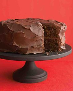 This dense cake offers graduation party guests an intense chocolate experience, complete with fudgy frosting.