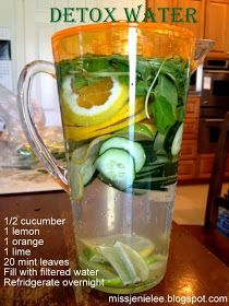 Detox Water (Can we just call it yummy vegetable water so that it doesn't sound like I'm on a diet?)