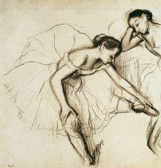 Edgar Degas-Due ballerine si riposano