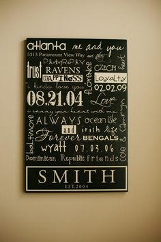 11x14 Mounted Custom Family Print The Story by SmithStreetBoutique, $95.00