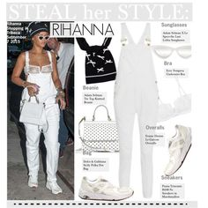 Steal Her Style-Rihanna by kusja on Polyvore featuring polyvore, fashion, style, Eres, Frame Denim, Dolce&Gabbana, Adam Selman, Stealherstyle, Rihanna and celebstyle