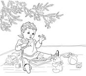 Little Jack Horner Coloring Page Coloring Pages Free Printable