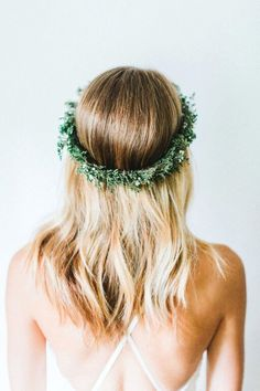 Evergreen Winter Flower Crown by emilyroseflowercrown on Etsy