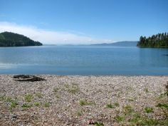 Yellow Bay is another site on the east side of Flathead lake that is tucked in behind a small southward pointing headland. The beach is.