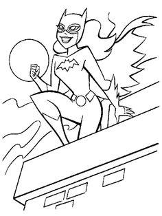 coloriages imprimer batgirl super hros - Printable Pictures For Kids