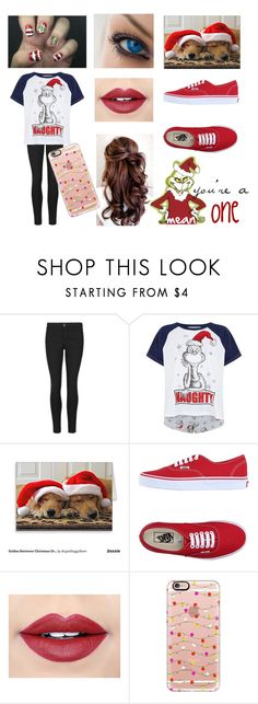 """""""the Grinch"""" by awkwardamz ❤ liked on Polyvore featuring Vans, Fiebiger and Casetify"""