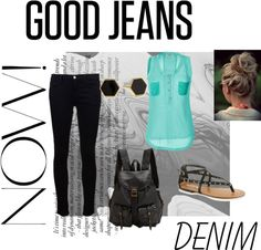 """Good jeans for a good weekend"" by ashleygrillo ❤ liked on Polyvore"