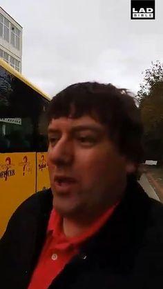 He's not a fan of this school bus