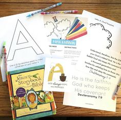 Little School of Smith's- Breakfast Basket Letter A Crafts, Bible Crafts, Reading Stories, Bible Stories, Breakfast Basket, Bible Study For Kids, Alphabet Cards, Great Books To Read, Learning The Alphabet