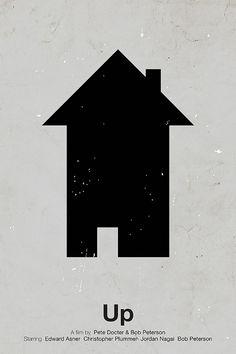 Pictogram movie posters – Up, designed by Viktor Hertz. #poster