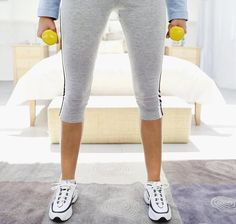 Do this routine before every shower: 50 jumping jacks, 5 pushups, 20 crunches, 20 mountain climbers, and 30 sec plank. I like the idea of doing it before every shower, then it is easier to become part of a routine. health-fitness