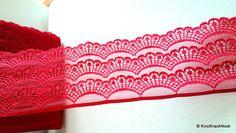 Maroon Scallop Net Lace Trim Ribbon Decorative Trim, Decorative Pillow Covers, Lace Ribbon, Embellished Dress, Festival Wear, Costume Design, Cushion Covers, Altered Art, Lace Trim