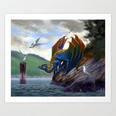 Vancouver Island Sea Dragon Art Print by Eric Lofgren - $20.28