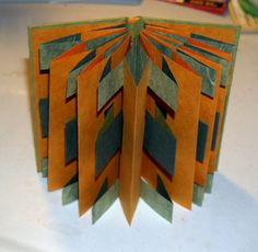 365: Make a Book a Day: Book 185 - A Piano Hinge Split Double Accordion Fold Book