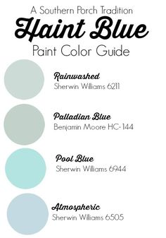 Haint Blue Paint Color Guide - American Rug Craftsmen - tradition - Heather Metzler More Exterior Paint Schemes, Best Exterior Paint, Exterior Paint Colors For House, Paint Colors For Home, Wall Exterior, Exterior Colors, Exterior Design, Haint Blue Porch Ceiling, Palladian Blue Benjamin Moore