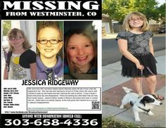 HAVE YOU SEEN THIS MISSING GIRL?  http://photos.denverpost.com/2012/10/09/video-jessica-ridgeways-family-will-speak-today-as-search-continues/