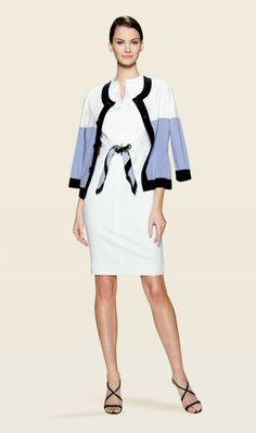 TONIC cardigan and MAGNOLIA white dress  | Carlisle Spring 2014 Collection